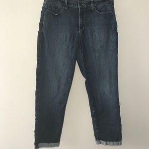 NYDJ Cuffed Cropped Jeans Size 10